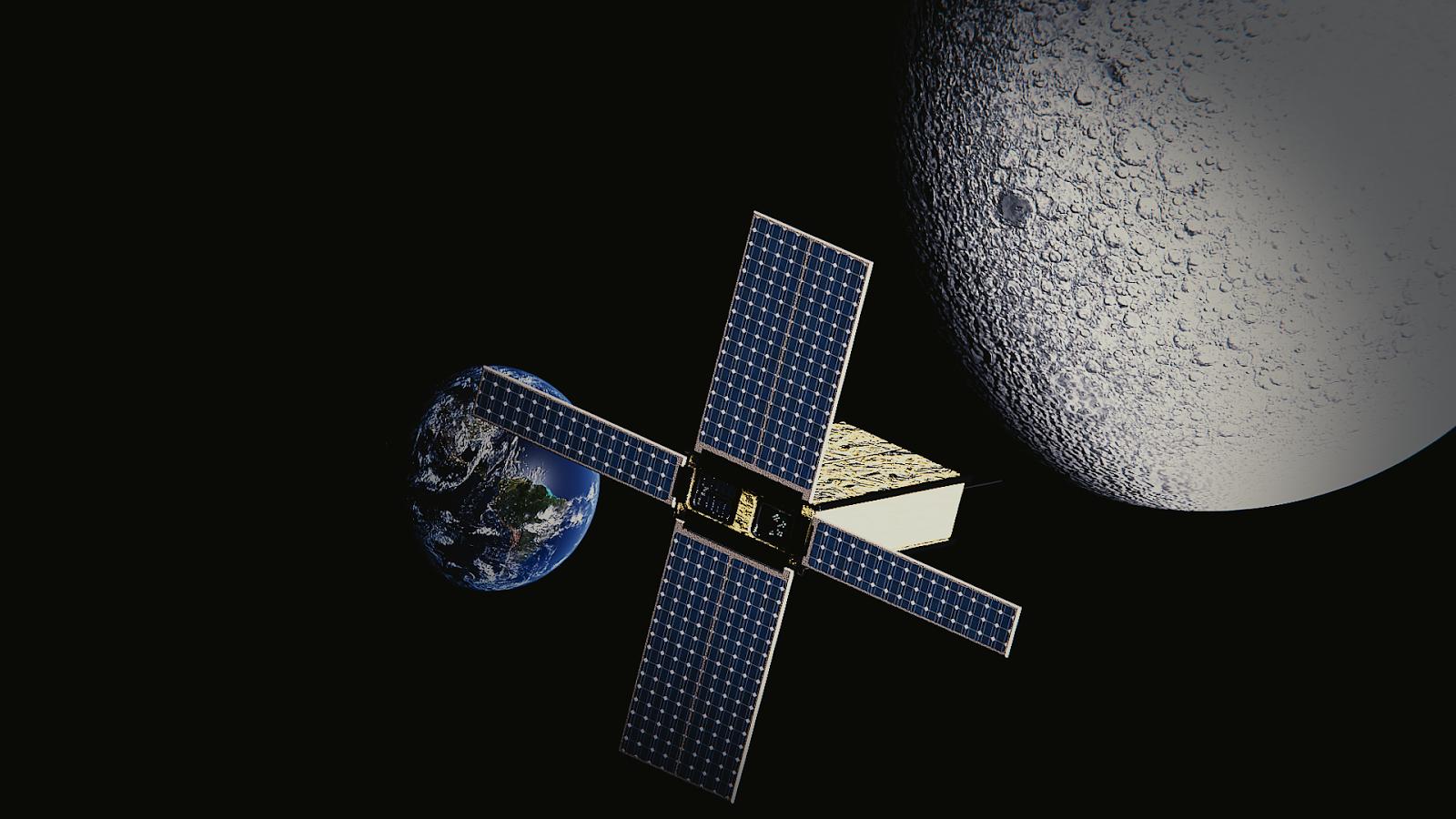 A ideia da missão coordenada atualmente por Lucas é colocar um experimento científico na órbita da Lua (foto: divulgação)