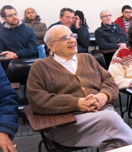 O professor Alexandre durante um workshop realizado no IME, em 2016. Foto: Arquivo Pessoal.